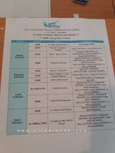 Programme 2019 du Festival du Conte d'Oran, organisé par l'association Le petit lecteur