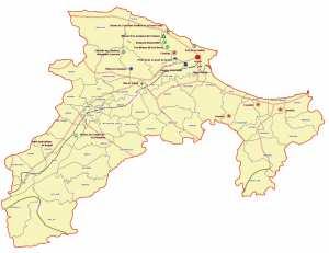 Wilaya de Béjaïa : Carte des sites et monuments historiques et patrimoine culturel