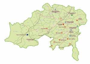 Wilaya de Batna : Carte des sites et monuments historiques et patrimoine culturel