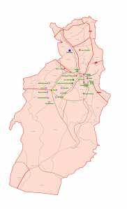 ولاية تبسة: خريطة المواقع التاريخية والآثار والتراث الثقافي