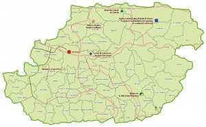 ولاية تيزي وزو: خريطة للمواقع التاريخية والآثار والتراث الثقافي