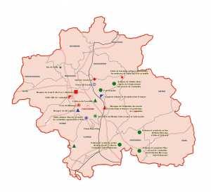 Wilaya de Constantine : Carte des sites et monuments historiques et patrimoine culturel