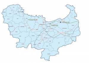 ولاية سكيكدة : خريطة المواقع التاريخية والآثار والتراث الثقافي