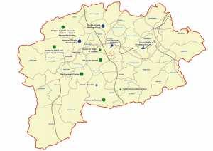 ولاية قالمة: خريطة المواقع التاريخية والآثار والتراث الثقافي
