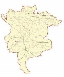 ولاية المسيلة : خريطة المواقع التاريخية والآثار والتراث الثقافي