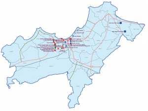 ولاية وهران : خريطة المواقع التاريخية والآثار والتراث الثقافي