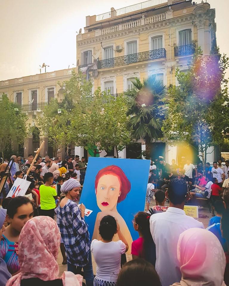 Hier on été témoin d'une très belle initiative, d'un #Hirak culturel!