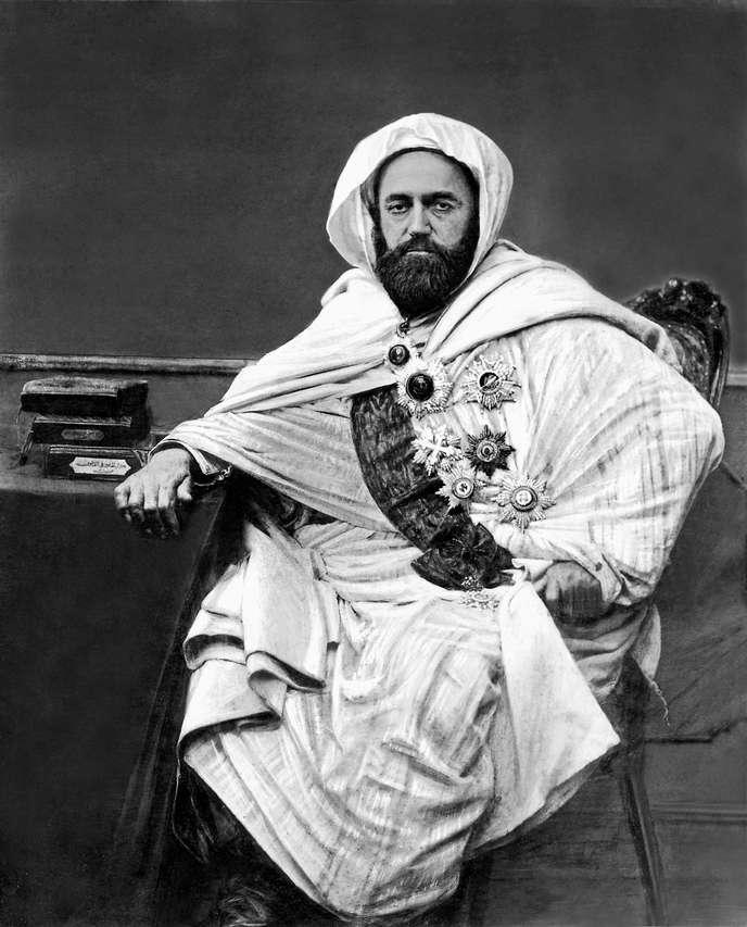 L'émir Abd Al-Kader (1808-1883), à Damas en 1852.