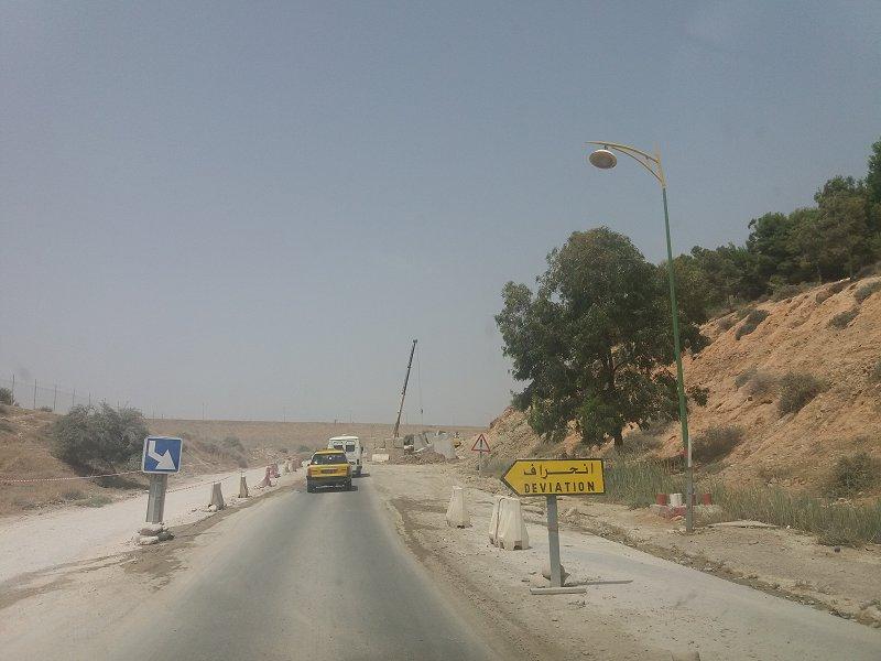 Renforcement de route à Hammam Boughrara vers Maghnia par la SEROR (Photo prise en Juillet 2018)
