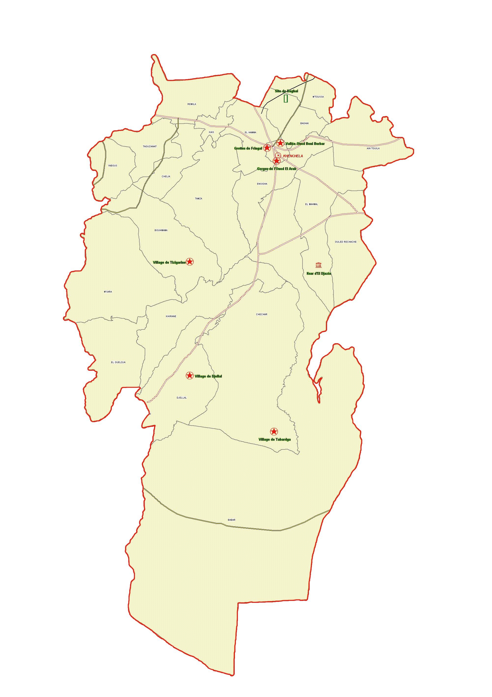 Wilaya de Khenchla : Carte des sites et monuments historiques et patrimoine culturel