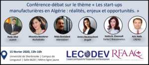 L'affiche de l'événement – LECODEV/RFAAQ