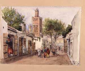 Rue des Orfévres. Tlemcen mars 1886