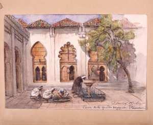 Djama Kebir. Cour de la grande Mosquée, Tlemcen