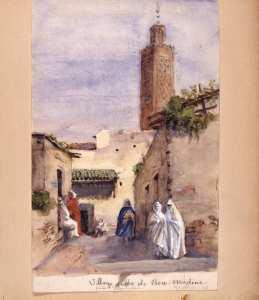 Village arabe de Bou-Médine . Tlemcen, Algeriet, 31 mars 1886