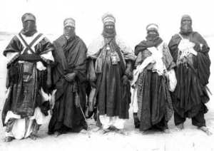 Tuareg men dressed for travel Algeria by Mennonite Church USA Archives