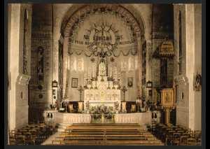 Intérieur de Notre Dame d'Afrique, Alger, Algérie
