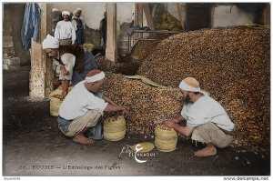 bejaia année 1900 emballage des figues sèches