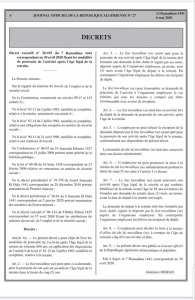 Le décret exécutif fixant les modalités de poursuite de l'activité après l'âge légal de la retraite.