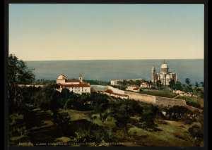 Notre-Dame d'Afrique et le couvent carmélite. Alger (Algérie)