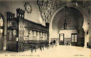 Photo ancienne de la Gare d'Oran, vue de l'intérieur