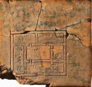Le plan d'une maison dessiné par les sumériens il y a plus de 5 000 ans...