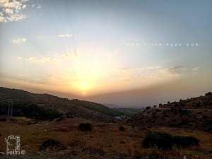 Un joli coucher de soleil sur le plateau de Lalla Setti à partir de Ouled Youcef