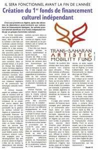 Création du 1er Fonds de financements culturels indépendant