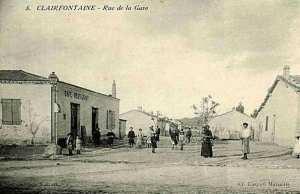 صورة قديمة لشارع محطة العوينات بولاية تبسة