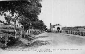 Compagnie des phosphates de Constantine. Mine Djbel Kouif (Septembre 1921). La route de la gare