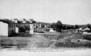 Compagnie des phosphates de Constantine. Mine Djbel Kouif (Septembre 1921). Une partie du village