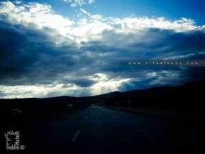 Jolis nuages sur l'autoroute Est-Ouest