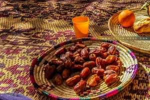 El Hmira, dattes récoltées dans l'oasis de Guentour