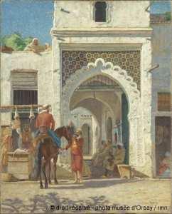 Fondouk à Tlemcen en 1900 par Gabriel Deneux