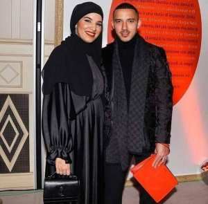 نجم مانشستر سيتي اللاعب اسماعيل بن ناصر رفقة زوجته