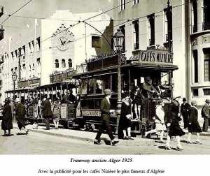 tramway alger 1925 publicité Niziere