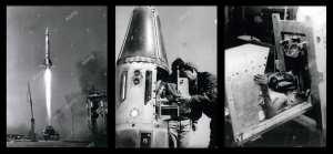 Martine le premier singe francais de l'espace ou french monkey revient saint et sauf a la station spatiale de hammaguir à Béchar