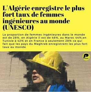 La femme algérienne a toute sa place dans le monde du travail afin de s'impliquer et y participer au destin de la nation.