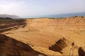 ARRÊT SUR IMAGE - Vu à Oued Z'hor à El-Milia (Jijel): Dune de sable éventrée