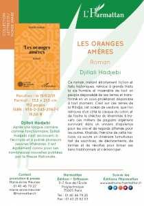 Roman de Djillali Hadjebi : LES ORANGES AMÈRES