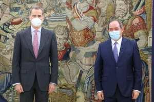 Visite de travail du Ministre Sabri Boukadoum à Madrid. Il a été reçu par SM le Roi Felipe VI