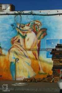 Joilis Graphittis sur les mur du Marché couvert de Béchar