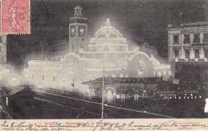 illumination de la mosquée d'Alger datant de 1907