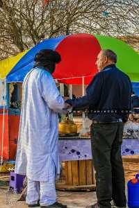 Vendeur de Thé à l'entrée d'Oum El Assel