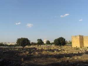 Photo quartier de la basilique , rempart, cirque,quartier du temple (Sétif)