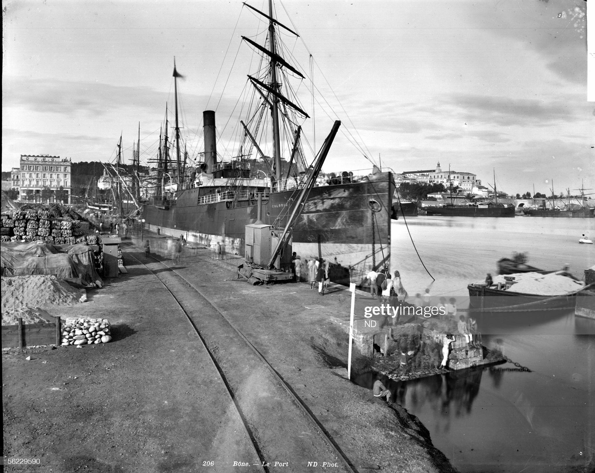 Annaba ex-Bone (Algerie).le port. vers-1890
