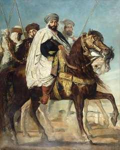Ali Ben-Hamet, Khalifat de Constantine, chef des Haractas, suivi de son escorte, 1845