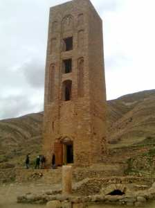 Msila- Minaret et la citerne de la Kalâa des Béni Hammad.