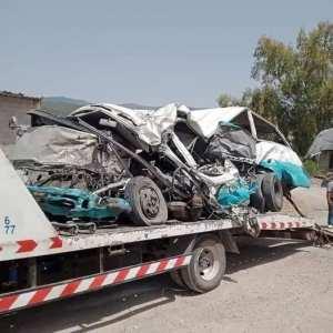 الحافلة التي كان على متنها الضحايا بحادث القرارم طريق قسنطينة وخلفت 18 وفاة و 11 جريح..