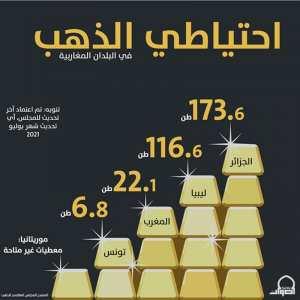 إلى حدود الشهر الماضي.. هذا احتياطي البلدان المغاربية من الذهب