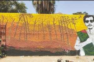 Aïn Defla - ARRÊT SUR IMAGE: Vu à Aïn Defla Une fresque murale en hommage à Djamel Bensmaïl